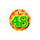 Button klein - ich bin 48