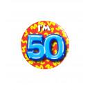 Button klein - ich bin 50