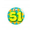Button klein - ich bin 51