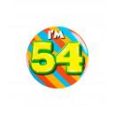 Button klein - ich bin 54