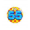 Button klein - ich bin 55