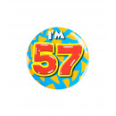 Button klein - ich bin 57