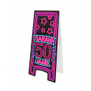 Neon Warning Sign - Sarah 50