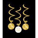 Örvény dekoráció arany/fehér - 60