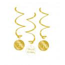 Örvény dekoráció arany/fehér - 70