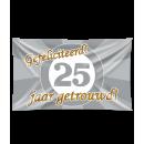 Flaga elewacyjna - 25 lat w związku małżeńskim
