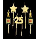Bougies gâteau de fête - 25 ans
