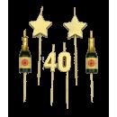 Świeczki na tort na przyjęcie - 40 lat