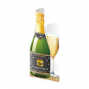 Champagne card - Happy Birthday