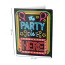 Window signs - The party is here