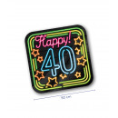 Neon decoration signs - Happy 40
