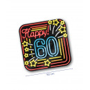 Neon decoration signs - Happy 60