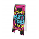 Neon Warning Sign - Party time!