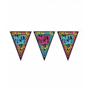 Neon party bunting - Party time!
