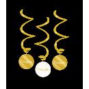 Ozdoby wirowe złoto/białe - Gratulacje