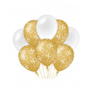 Balony urodzinowe złoto/białe - 30