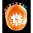 Balony imprezowe - 11 lat