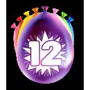 Balony imprezowe - 12 lat