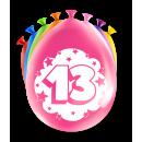 Balony imprezowe - 13 lat