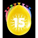 Balony imprezowe - 15 lat