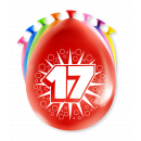 Balony imprezowe - 17 lat
