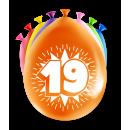 Balony imprezowe - 19 lat