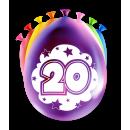 Balony imprezowe - 20 lat