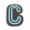 Neon letter - C