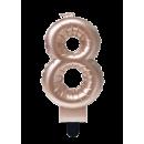 Świeca balonowa foliowa róża - 8