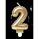 Świeca balonowa foliowa złota - 2