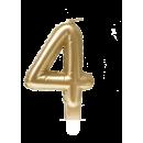 Świeca balonowa foliowa złota - 4