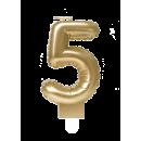 Świeca balonowa foliowa złota - 5