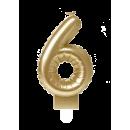 Świeca balonowa foliowa złota - 6