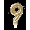 Świeca balonowa foliowa złota - 9
