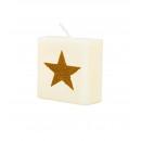 Świeca listowa - Gwiazda (złota)