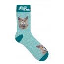 wholesale Decoration: Sock Gray Tabby Cat 42-45