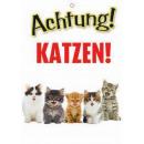 Warnzeichen Katzen