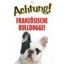 Warnzeichen französische Bulld