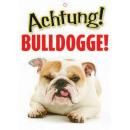 Warnzeichen Bulldogge