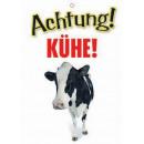 Warnzeichen Kühe
