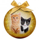 wholesale Home & Living: Christmas bauble Frosted Cats