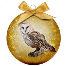 wholesale Decoration: Christmas bauble Frosted Owl