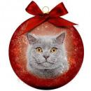 mayorista Casa y decoración: Adorno de Navidad Frosted Cat Grey