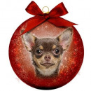 Großhandel Home & Living: Weihnachtskugel Mattiert Chihuahua