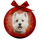 Christmas bauble Frosted Westie