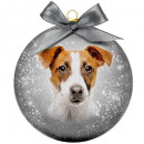 Christmas bauble Frosted Jack Russell