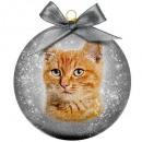 Karácsonyi csecsebecse matt macska piros