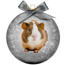 wholesale Decoration: Christmas bauble Frosted Guinea Pig