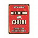 wholesale Pet supplies: Panneau Metallique Chien Rouge