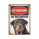 Panneau Metallique Rottweiler